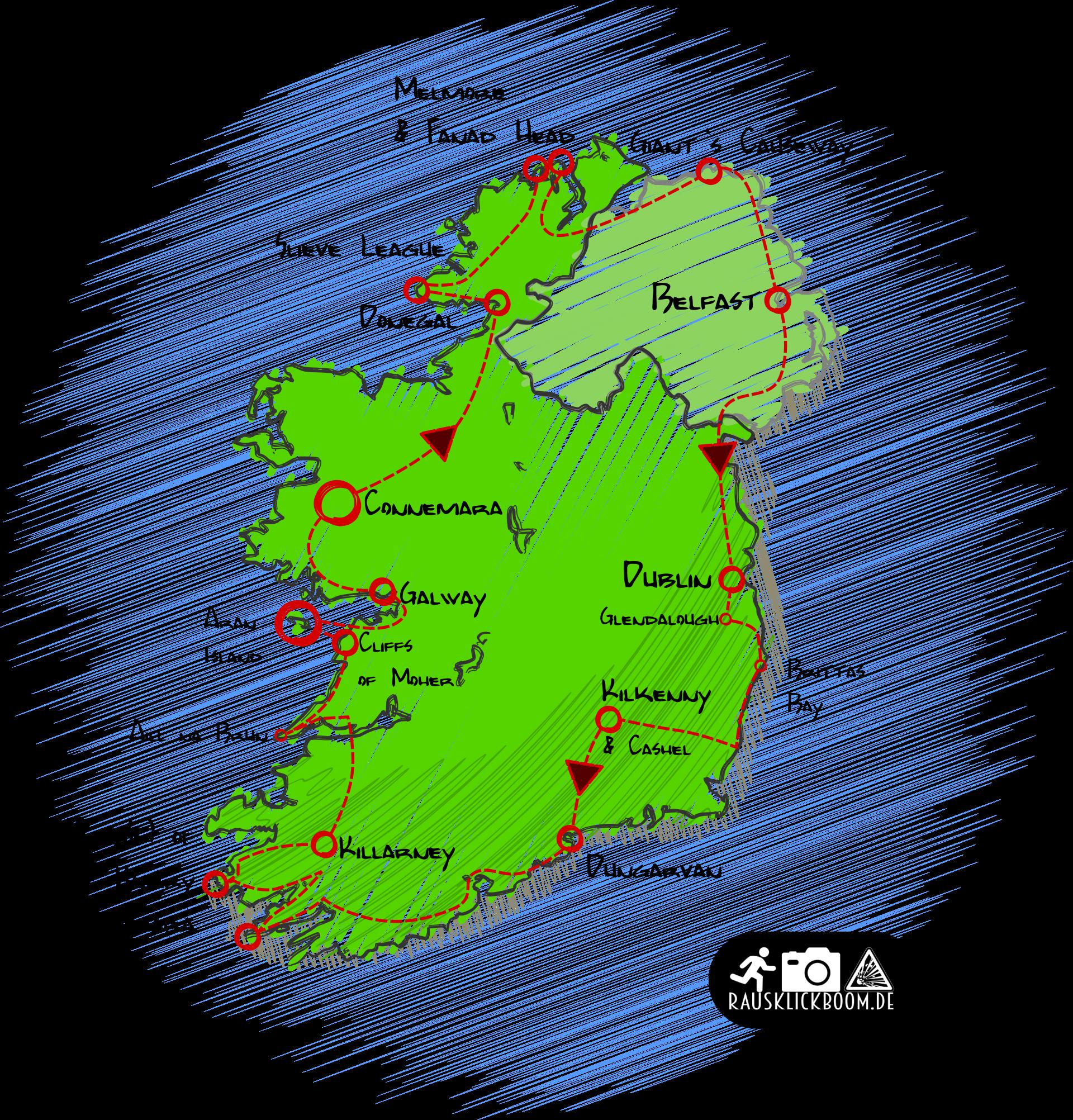 Irland-ReiseRoute
