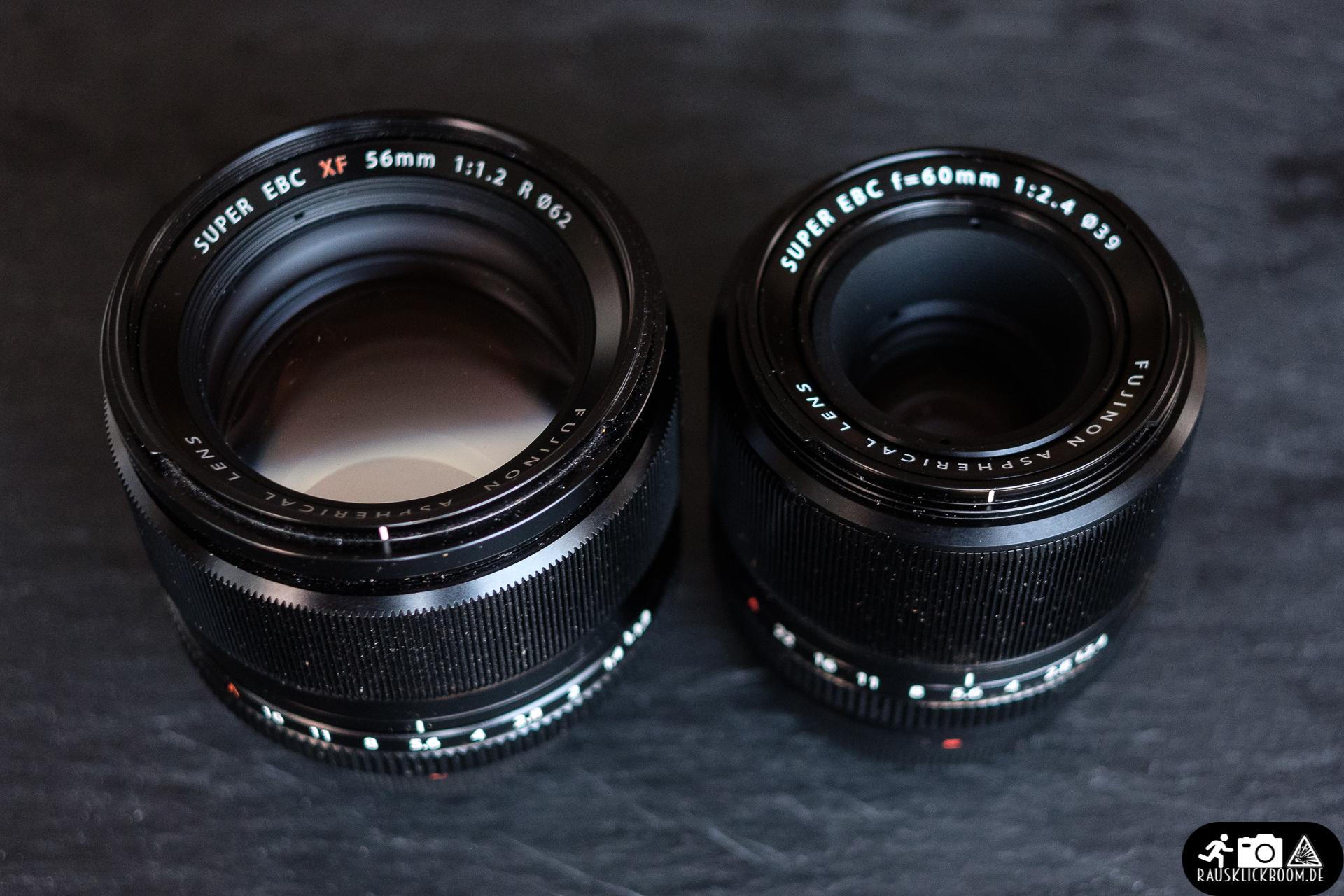 Fujinon XF 60mm F2.4 R Macro - Vergleich XF 56mm F1.2