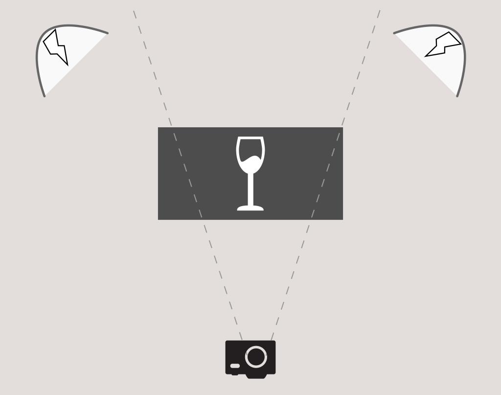 Belichtungskonzept Glas / Flüssigkeit Fotografieren