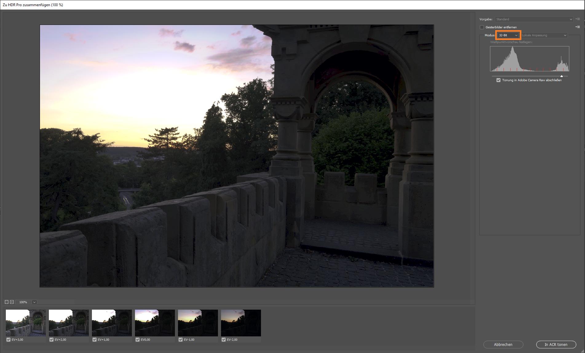 HDR mit Photoshop und Camera Raw erstellen