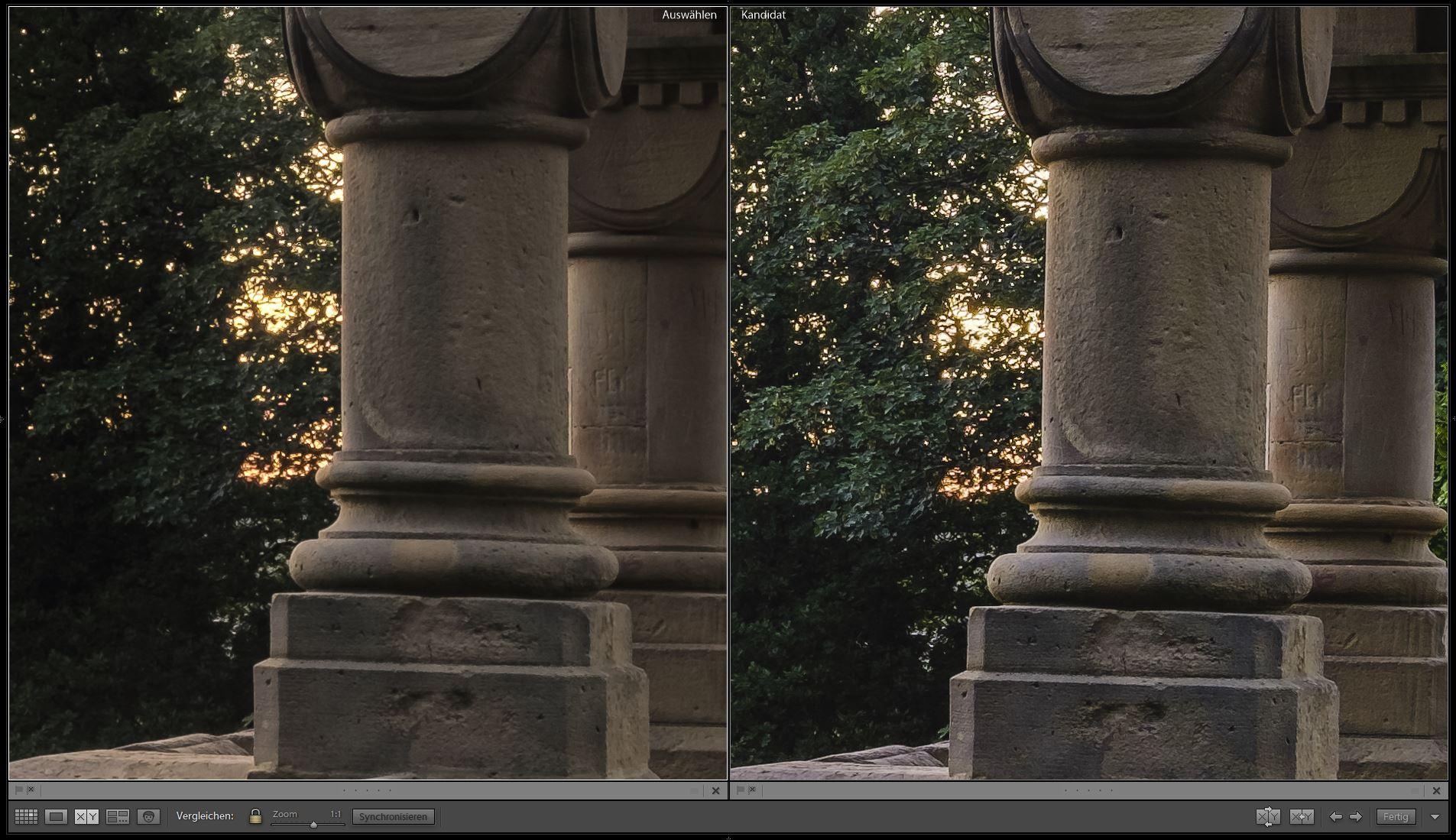 Vergleich Schärfe HDR Lightroom vs. Photoshop